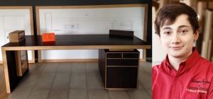 Schreibtisch aus Wenge und Eiche von Fabian Feldmann
